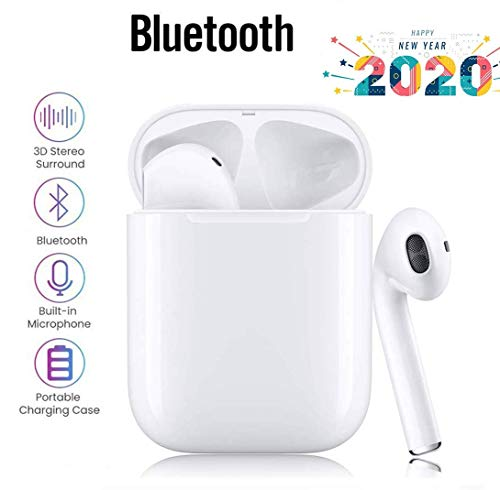 i11 Bluetooth kopfhörer 5.0, Touch-Steuertasten, kabellose Ohrhörer mit Schnellladekoffer, 3D-Stereoanlage & wasserdichte IPX5-Ohrhörer für Apple Airpods/iPhone/Huawei/Samsung -White
