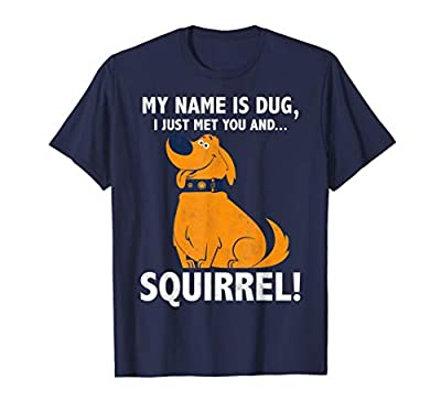 Disney Up My Name is Dug Squirrel Graphic T-Shirt T-Shirt