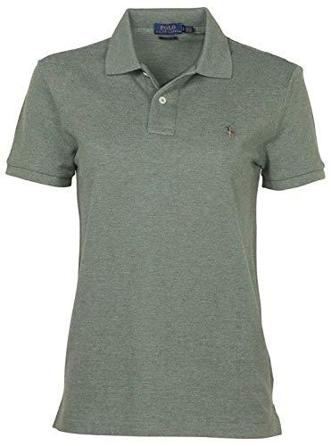 Ralph Lauren Polo-Shirt für Damen, Skinny Fit, Grün Blue/White