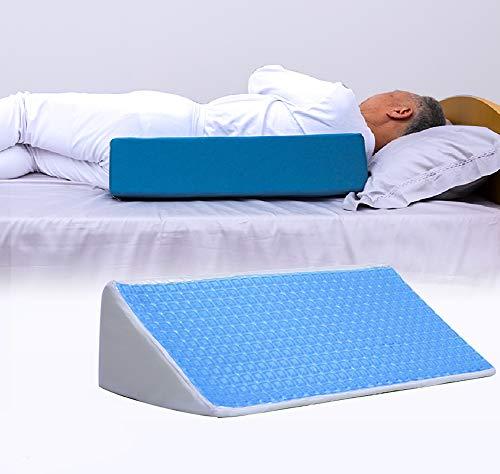 YUEHAI Gel Anti-dekubitus Seite-drehen positionierung pad zurück Kissen dreieck Kissen Kissen, lenkung Seite pad für Lange-Term Bett Rest Patienten/senioren/Schwangere Frauen (Blau,55cm)