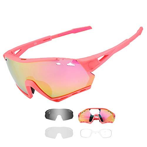 Gafas de Sol Gafas de Ciclismo Deportes polarizados Gafas de Sol de Ciclismo para Hombre Gafas de Bicicleta de montaña Gafas de protección MTB