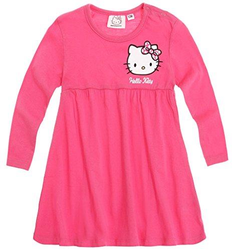 Robe manches longues bébé fille Hello kitty Rose foncé de 3 à 24mois (24mois)
