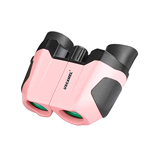 10x22 Compact Kids Binoculars - Large Eyepiece High Power Waterproof Binocular Easy Focus - for Outdoor, Hiking, Bird Watching, Camping - for Adults and Kids - Best Gifts - (Pink)