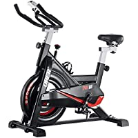 Ober 300 lb Capacity Stationary Exercise Cycling Bike with Heart Rate Monitor