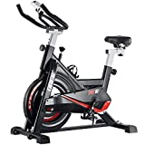 Ober Stationary Exercise Bike 300 lb Capacity, Cardio Workout Spin Bikes for Home, Indoor Cycling Bike with Heart Rate Monitor