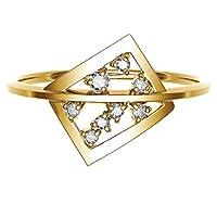 [ココカル]cococaru ダイヤモンド リング k10 イエローゴールド/ホワイトゴールド/ピンクゴールド 品質保証書 金属アレルギー 日本製(イエローゴールド 1)