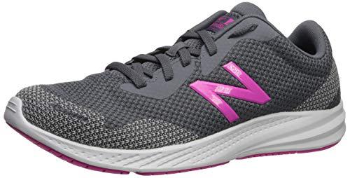 New Balance Women's 490 V7 Running Shoe, Lead/Pink, 8 W US