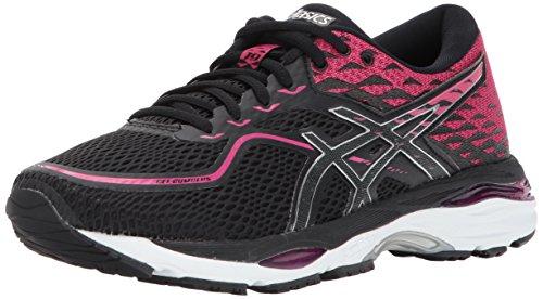 ASICS Women's Gel-Cumulus 19 Running Shoe, Black/Silver/Ink Peacoat, 8 Medium US