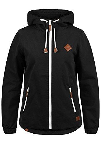 Blend SHE Bibi Damen Übergangsjacke Mantel Parka leichte Jacke mit Kapuze, Größe:M, Farbe:Black (70155)