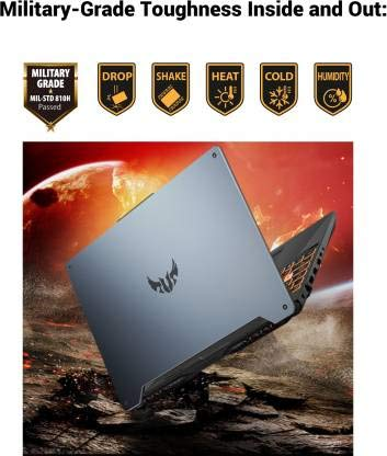 Asus TUF Gaming FA706IH-H7031T (Ryzen 5 Hexa Core 4600H/8 GB/1 TB HDD/Windows 10/4 GB GDR6 Graphics/NVIDIA Geforce GTX 1650/17.3 inch FHD-120hz/Fortress Gray/2.6 kg)