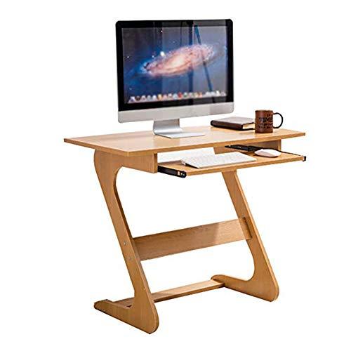 BJL Murale Pliante HX Table D'ordinateur De Table D'ordinateur Portable en Bois De Couleur Simple avec Un Clavier Coulissant Petit Espace PC75x40x70cm A+
