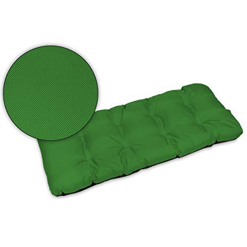 SuperKissen24. Cuscino Lungo per Panchina da Giardino 100x50 cm Resistente e Comodo per Panca da Esterno ed Interno - Verde