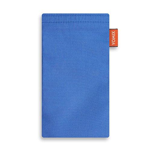 YOMIX VIIVI Blau mit Strahlenschutz Handytasche Tasche für Motorola Moto Z2 Force aus Microfaser mit Microfaserinnenfutter | Hülle mit Reinigungsfunktion | Made in Germany