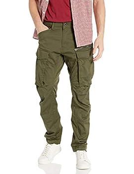 G-Star Raw Men s Rovic Zip 3D Straight Tapered Fit Casual Pants Dark Bronze Green 32W x 32L