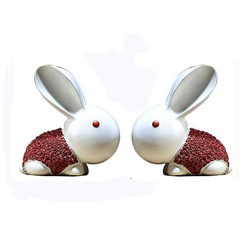 XJAXY Escultura De Resina Regalo De Conejo Creativo Adecuado para Sala De Estar Dormitorio TV Gabinete Vinoteca DecoracióN del...