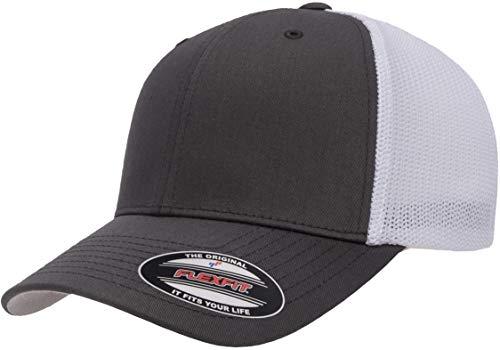 Flexfit Unisex-Erwachsene Trucker Mesh Fitted Cap-2-Tone Kappe, Anthrazit/Weiß, Einheitsgröße