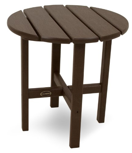 Polywood RST18MA Round 18' Side Table, Mahogany