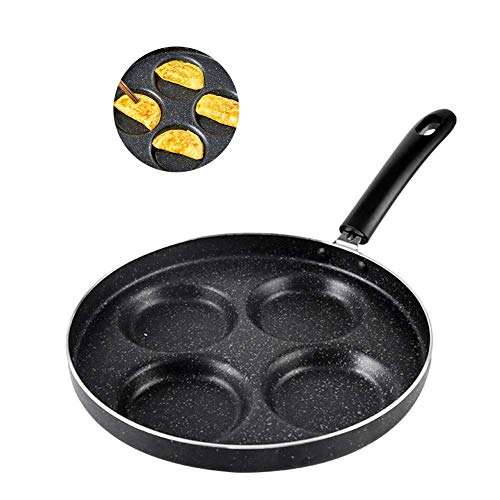 LGR Frying Pan for Induction Cooktop, Omelette Pan Nonstick Best Skillets with Handles Four Holes Crepe Pans for Cooking Camping,Style 4