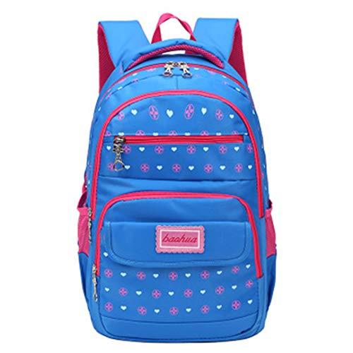 Waterproof Children's School Bags School Backpacks Kids Print Backpack School Bag Large Capacity Mochila Infantil, Blue (Blue) - RS190812