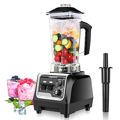 SKANWEN Professional Blender for Kitchen, High Speed Power Blender Smoothie Maker 1800 Watt with Built-in Timer for Frozen Fruit, Crushing Ice, Veggies, Shakes and Smoothie, self-Cleaning 68 oz Container