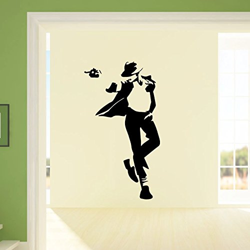 Ambiance-Live Wandtattoo Michael Jackson - 100 x 55 cm, Schwarz