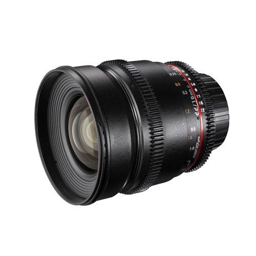 Walimex Pro 16mm 1:2,2 VDSLR Video- und Foto Weitwinkelobjektiv für Nikon F Objektivbajonett schwarz (manueller Fokus, für APS-C Sensor gerechnet, IF, inkl. Schutzdeckel und Objektivbeutel)
