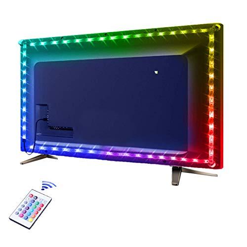 Tira de luces LED RGB IP65, resistente al agua, flexible, con cuerda que cambia de color SMD 5050, tiras de luz LED con control remoto para iluminación del hogar, barra de cocina, decoración de techo