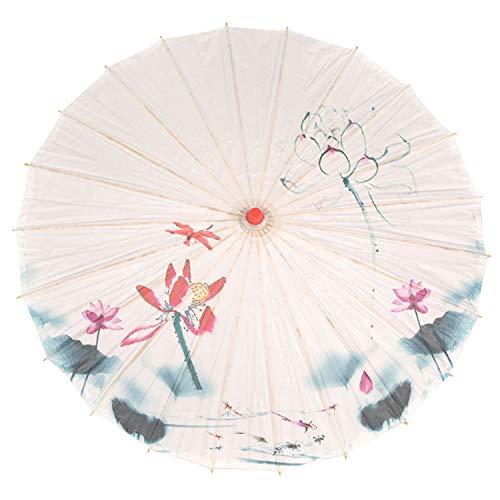 Paraguas de Seda China, Estilo clásico, Decorativo, Paraguas de Papel de Aceite, Parasol de Playa o...