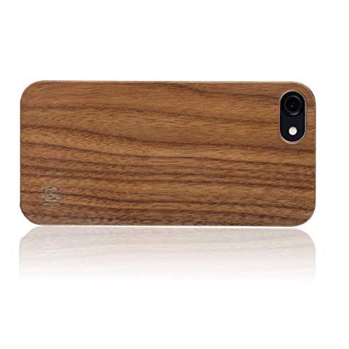 WOLA Funda Madera para iPhone SE 2020/8 / 7 Carcasa Madera Ciel Funda en Noce