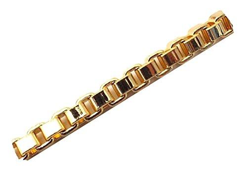 Venezianerkette 18kt Gold Doublé 4 mm Länge 70 cm Halskette Goldkette Herren-Kette Anhängerkette Damen Geschenk Schmuck ab Fabrik Italien tendenze VGY4-70