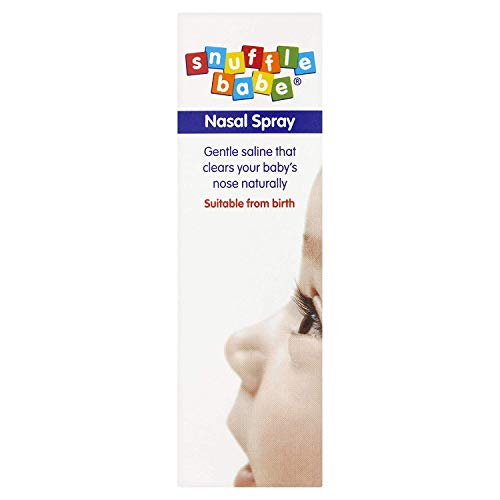 Snufflebabe nasal spray for blocked nose in babies contains seline