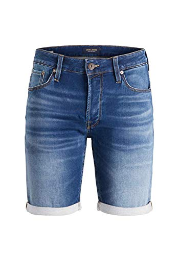 JACK & JONES Herren Jeansshorts Rick Icon GE 006 MBlue Denim