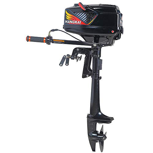 CNCEST Outboard Motor, 2 Stroke 3.6 HP Heavy Duty Outboard Motor Kayak Boat Engine with Water-Cooling System CDI Short Shaft