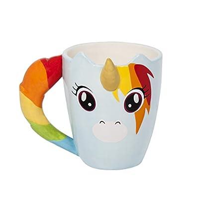 Thumbs Up! Taza Unicornio, cerámica, Multicolor, 11x12.5x11 cm