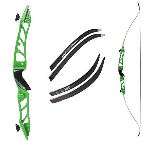 Recurvebogen Core Silhouette Grün mit schwarzen Wurfarmen 66 Zoll 34 lbs
