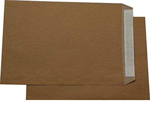 50 St. Versandtaschen Briefumschläge C4 A4 braun haftklebend ohne Fenster 229x324 mm HK