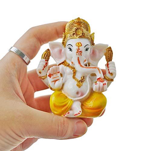Indian Ganesh Idol Car Dashboard - Hindu Ganesha Statue Elephant God - India GanpatiLord MurtiMandir
