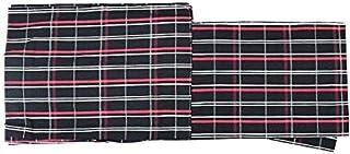 単衣 着物 木綿着物(TLサイズ 伊勢木綿/黒 赤 白 格子 チェック柄 15639)単品 トールサイズ 居敷当て 綿100%