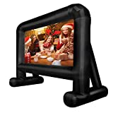 LSVRGI Projector Screen with Storage Bag - Inflatable Outdoor Movie Screens - Blow Up Screen and Stand for Video TV Movies - Easy Set up