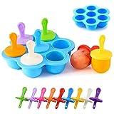 BOJLY Moldes Helados Silicona, Moldes de Polos Libre de BPA y Reutilizable Multifuncional Moldes de Paletas Para niños, bebés y adultos