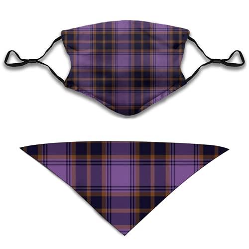 Liliylove O'Sullivan Beare - Pañuelo facial y pañuelo triangular para perro, 2 unidades, color morado