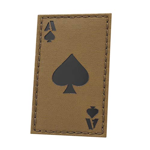 IR Coyote Ace of Spades Death Dead Card 2x3.5 Morale Tactical Fastener Patch