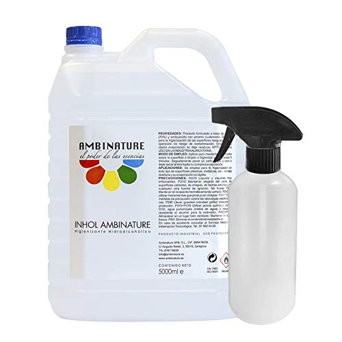 Desinfectante superficie hidroalcoholica 5 litros desinfectante liquido antiseptico antibacteriano jabon antiséptico a base de alcohol ideal para rellenar en spray