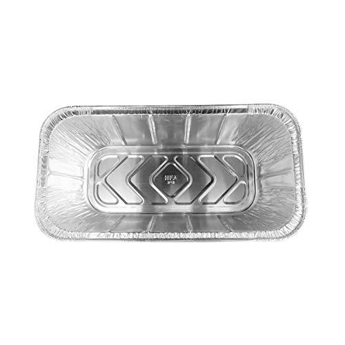 KitchenDance Disposable Aluminum Loaf Pans (25, 5 Pound Loaf)