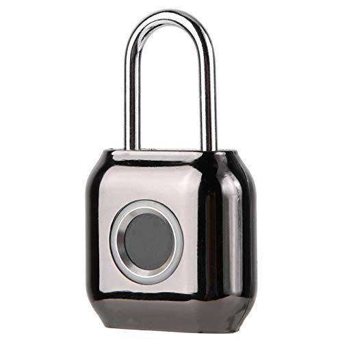 Fingerabdruck-Vorhängeschloss, IP66 Keyless Black Lock, mit LED-Anzeige, integrierter Hochleistungsbatterie, für Schränke, Taschen, Türen, Fitnessstudios und andere Anlässe