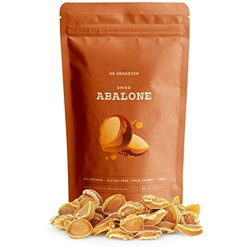 SB Organics Premium Dried Albalone - All Natural, Gluten Free, Wild Caught Gourmet Dried Seafood for Cooking - Freshly Harvested from the Waters of Mexico - 8oz Bag