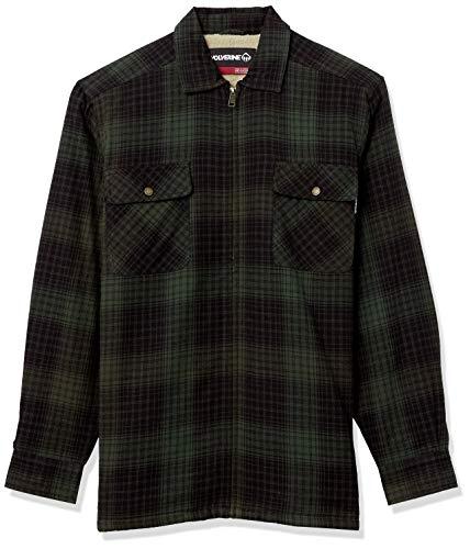 Wolverine Herren Marshall Shirt Jacket Arbeitsoberkleidung, Grün kariert, Groß