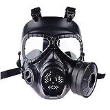 LuuBoes máscara de airsoft, máscara de seguridad táctica para airsoft, máscara de seguridad de cara completa para paintball, máscara de gas sucia, máscara de protección tóxica CS