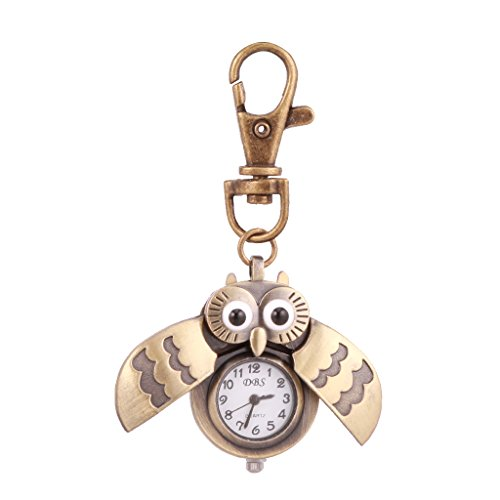 Generic Cute Bird Owl Watch Necklace Keychain Watch Vintage Accessories Gifts