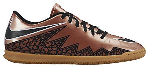 Nike Hypervenom Phade II IC, Botas de fútbol para Hombre, Marrón/Negro/Blanco (Mtlc Rd Brnz/Blk-Grn GLW-White), 45 1/2 EU